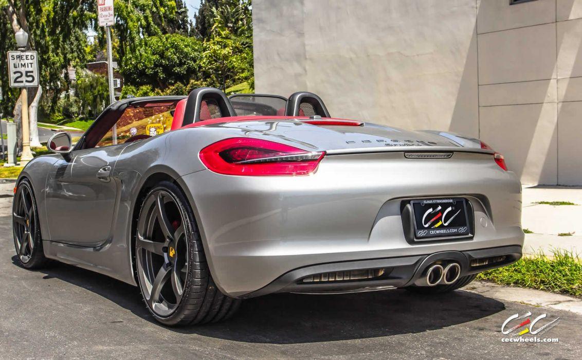 2015 cars CEC Tuning wheels porsche Boxster S convertible wallpaper