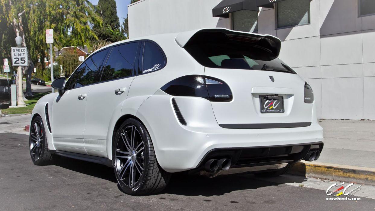 2015 cars CEC Tuning wheels porsche Cayenne turbo suv wallpaper