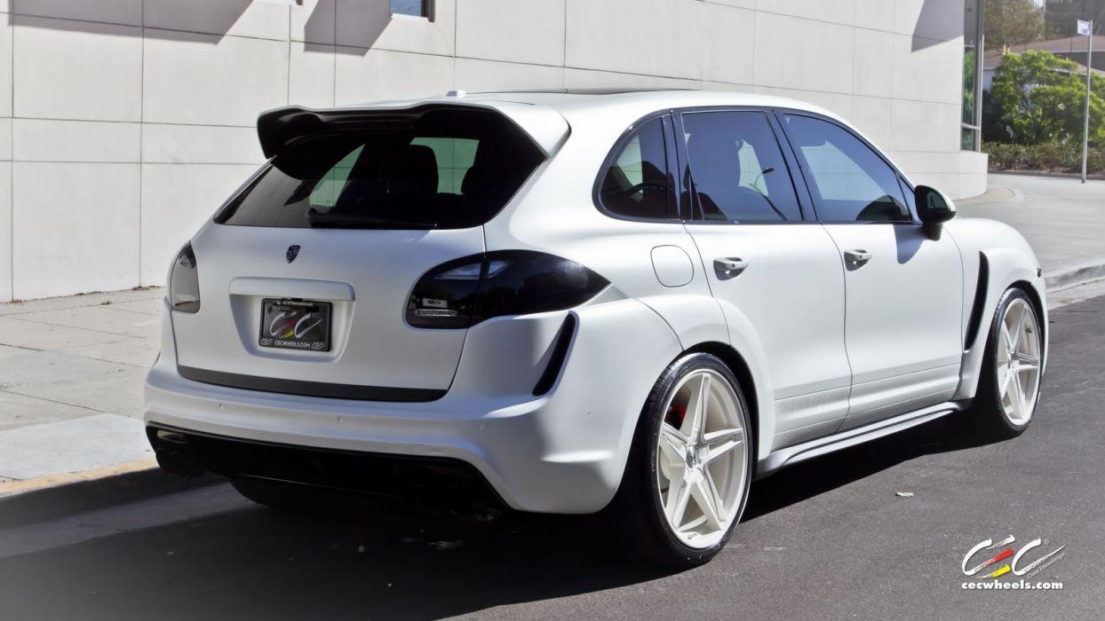 2015 cars CEC Tuning wheels porsche Cayenne Turbo wallpaper