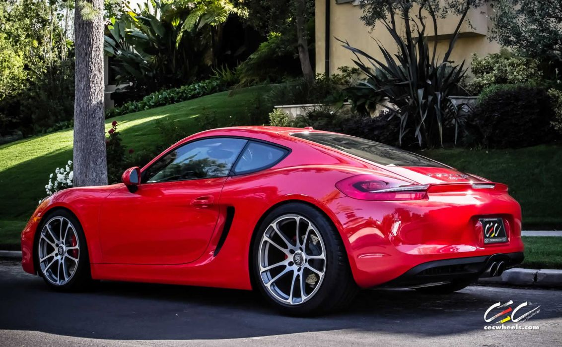 2015 cars CEC Tuning wheels porsche Cayman S wallpaper