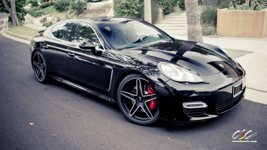 2015 cars CEC Tuning wheels porsche Panamera Turbo wallpaper