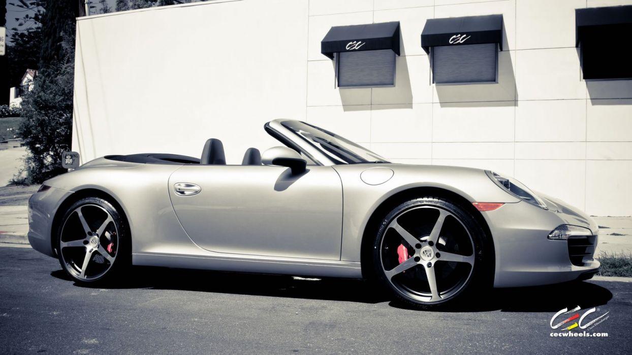 2015 cars CEC Tuning wheels porsche 911 Carrera s convertible cabriolet wallpaper