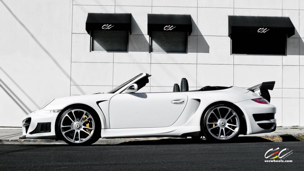 2015 cars CEC Tuning wheels porsche 911 Turbo S Cabriolet convertible wallpaper