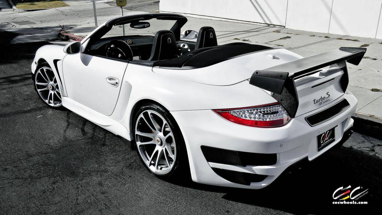 2015 cars CEC Tuning wheels porsche 911 Turbo S Cabriolet convertible wallpaper