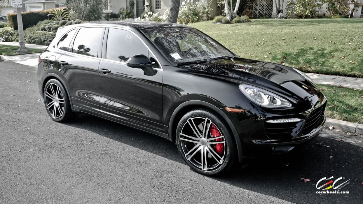 2015 cars CEC Tuning wheels porsche Cayenne turbo suv wallpaper