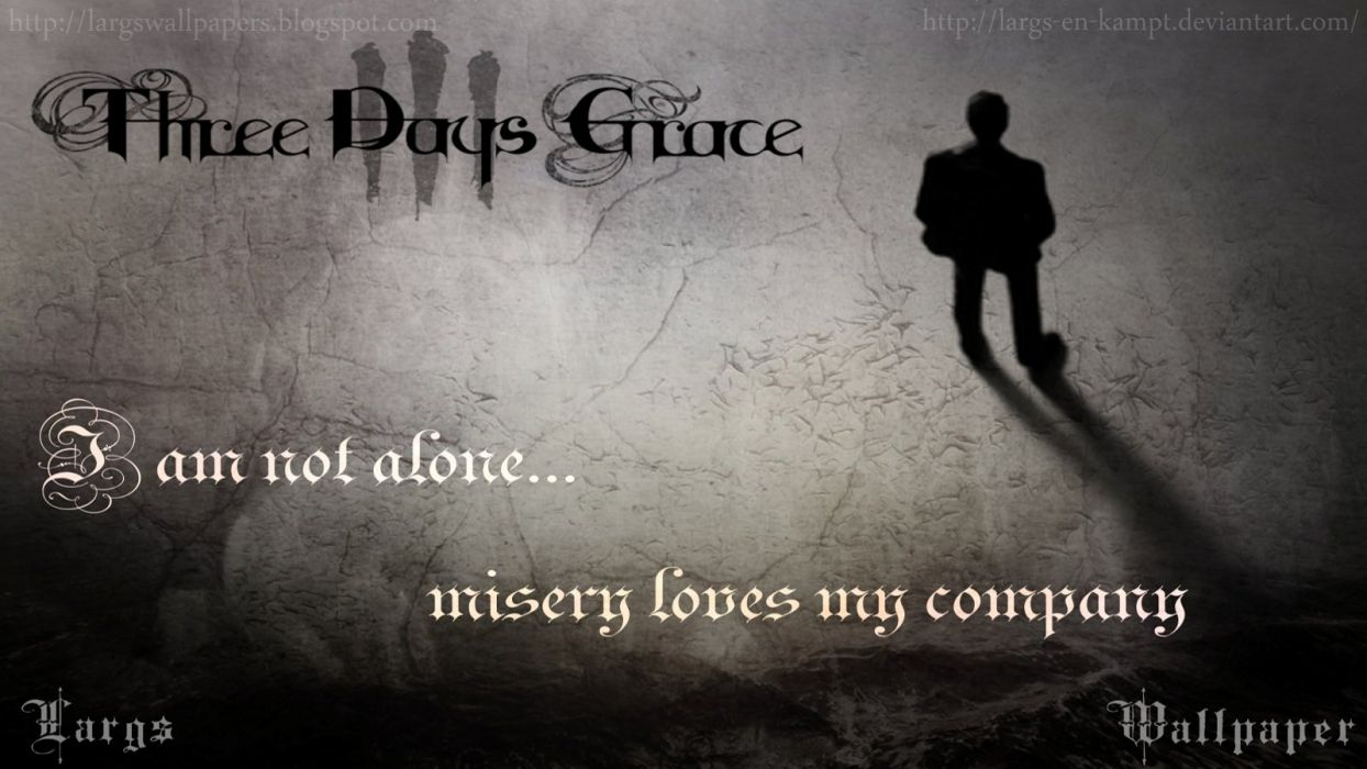 Three Days Grace - Mysery Loves my Company by LargsAle wallpaper