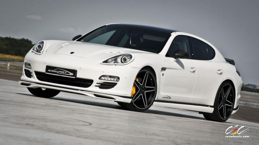 2015 cars CEC Tuning wheels porsche Porsche speedART Panamera Turbo wallpaper
