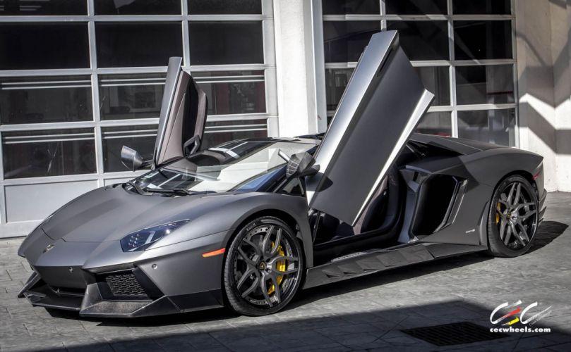 2015 cars CEC Tuning wheels supercars Lamborghini NOVITEC TORADO Roadster wallpaper