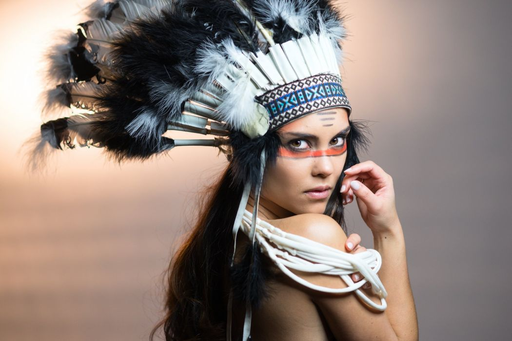 american indian sexy babe model western cosplay wallpaper