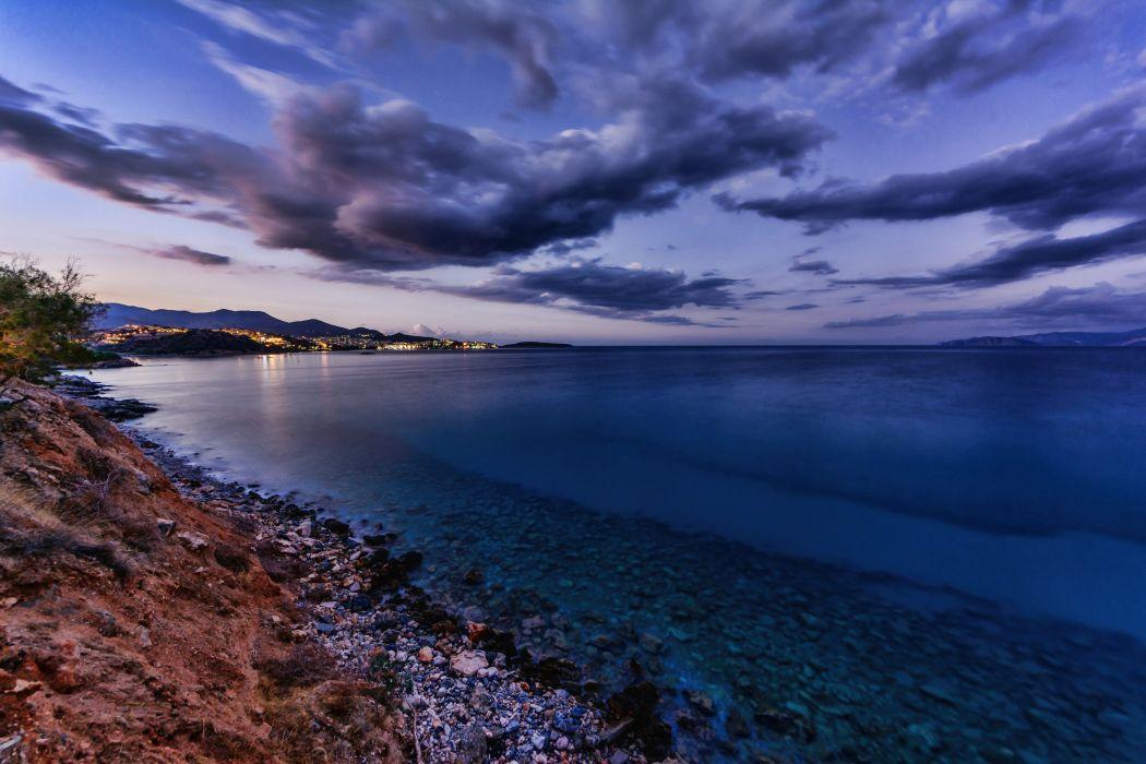 Greece Coast Sea Crete Nature wallpaper