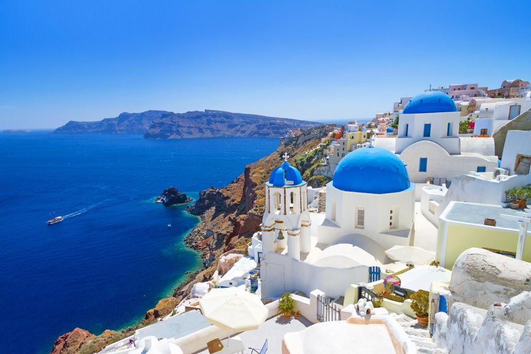 Greece resort sea vacation landscape nature wallpaper