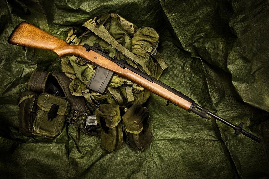 M14 a semi-automatic rifle a weapon bag gun military wallpaper