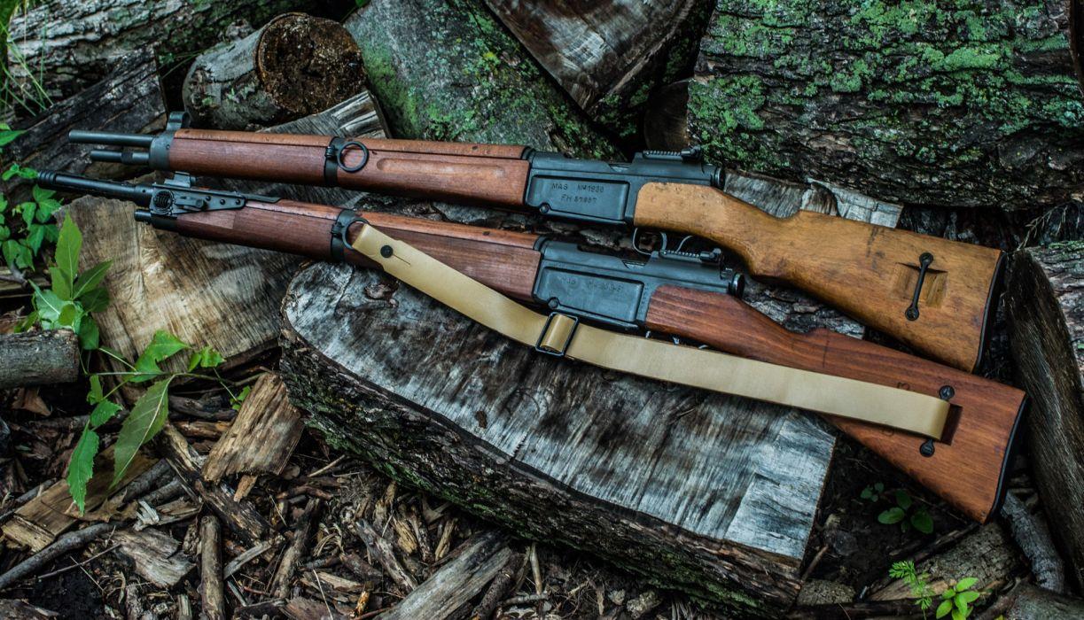 MAS-36-51 French shop rifle gun military weapon wallpaper