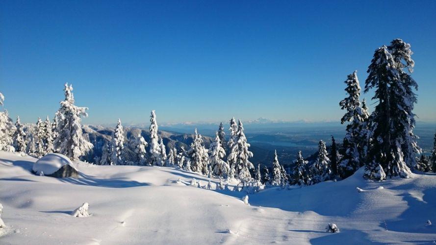 mountains ski resort Cypress Mountain Cypress Mountain Vancouver winter canada snow wallpaper