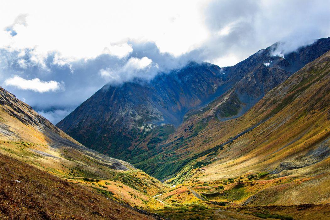 mountains landscape Girdwood Alaska wallpaper