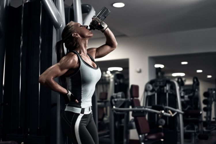 muscles fitness sexy babe wallpaper
