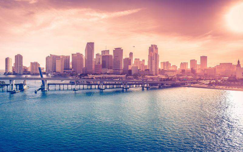 Miami Downtown Florida USA wallpaper