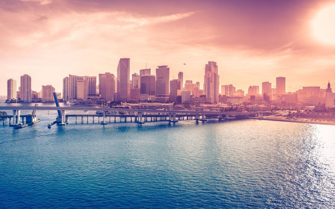 Miami Downtown Florida USA wallpaper