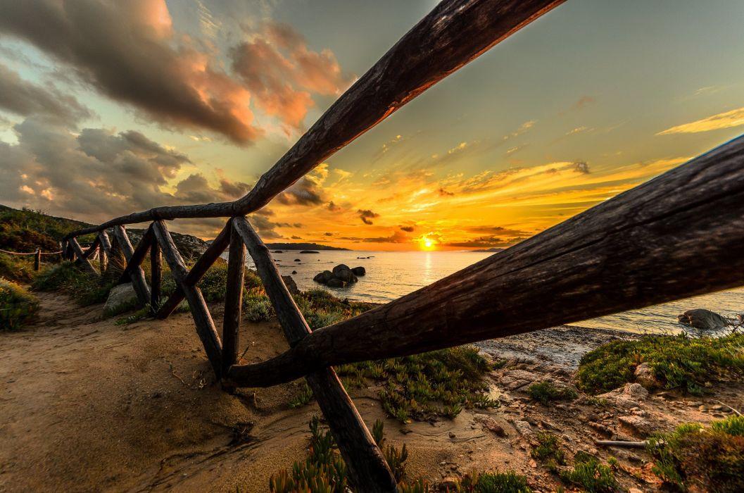 nature landscape nature landscape scenery sky sunset beach ocean sunrise sun sand beautiful sky sunset sea ocean sky sunrise sun fence wallpaper