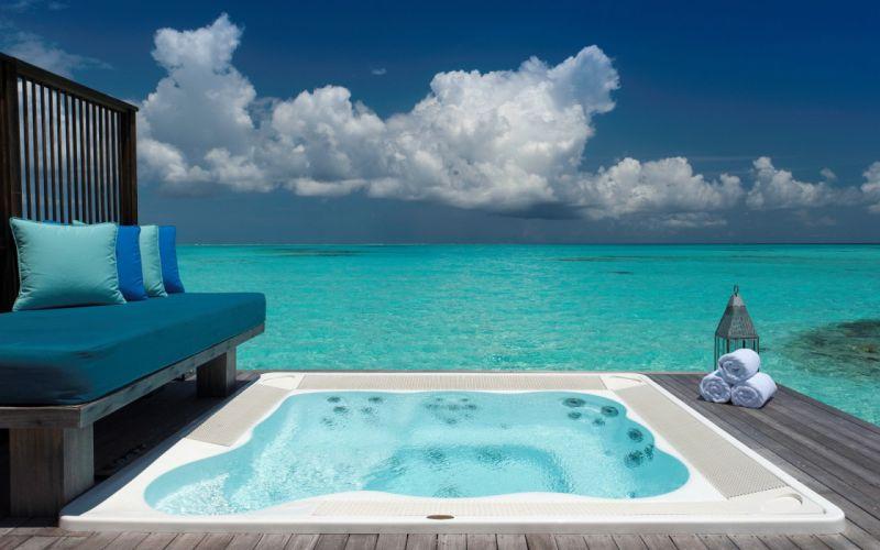 ocean water jacuzzi spa resort wallpaper