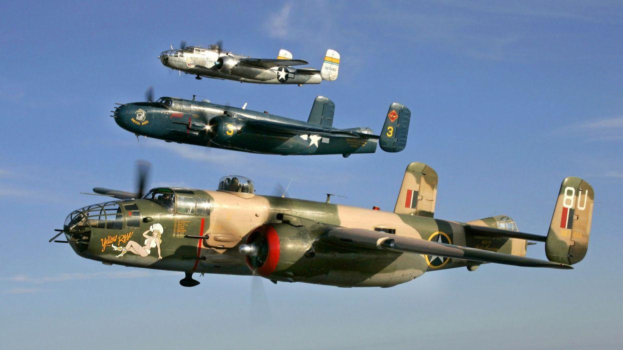 plane retro element flight sky parade war military bomber retro vintage wallpaper