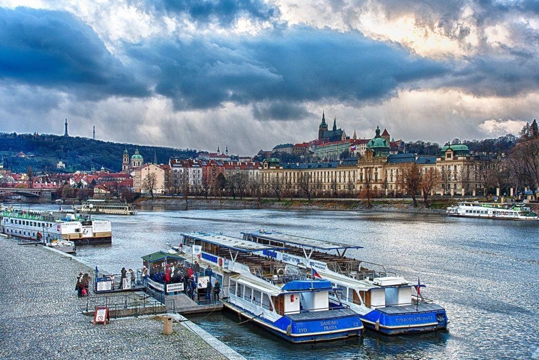 Prague city prirchal wallpaper