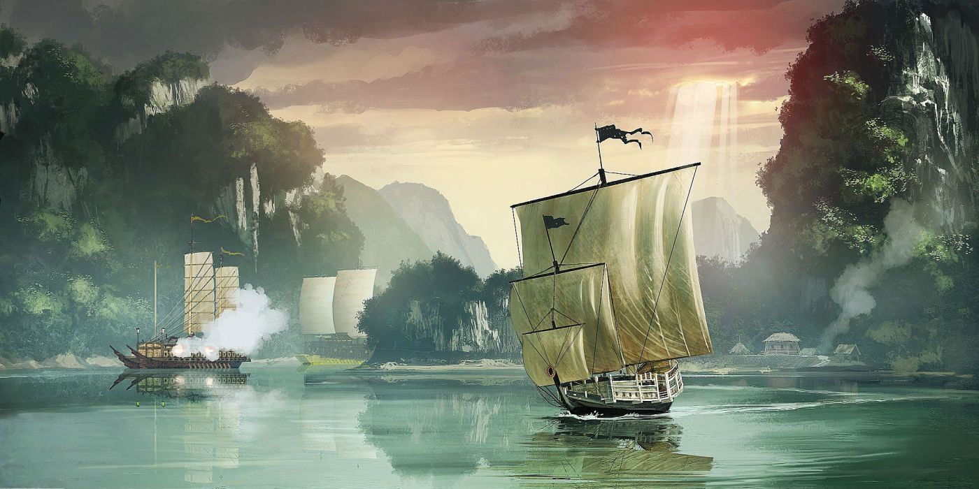 WIND Of LUCK arena mmo online fantasy ship boat fighting 1wol galleon warship navy military battle wallpaper