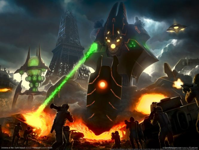 UNIVERSE AT WAR strategy sci-fi mecha fighting futuristic action 1uaw tactical robot wallpaper