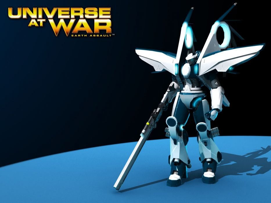 UNIVERSE AT WAR strategy sci-fi mecha fighting futuristic action 1uaw tactical robot poster wallpaper