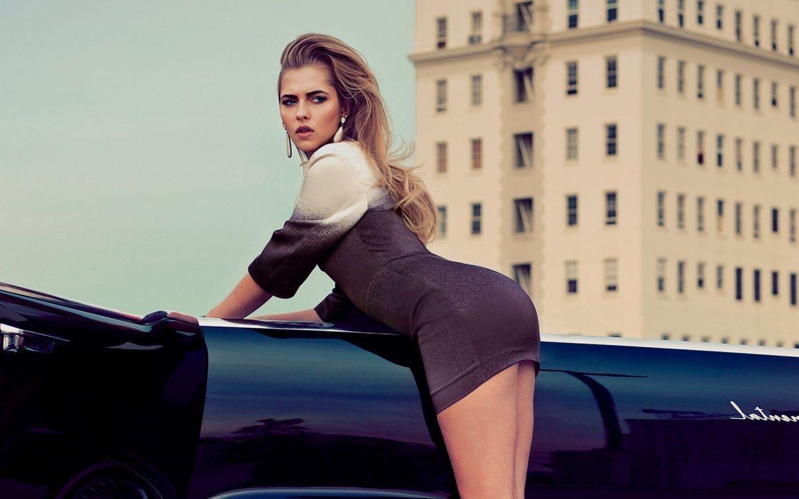 SENSUALITY - teresa palmer celebrity girl blonde car wallpaper