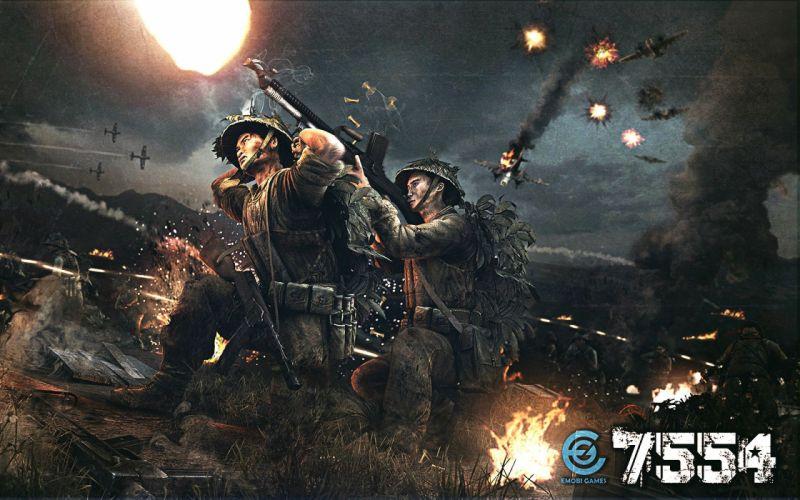 7554 shooter military action fighting war vietnam combat battle poster wallpaper