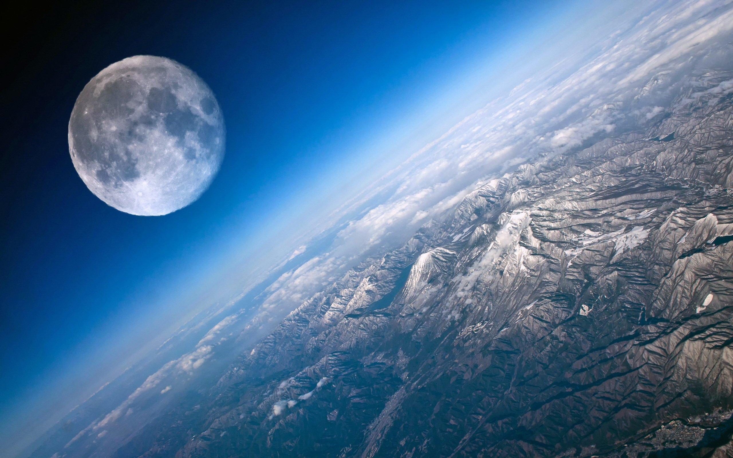 Tierra Luna Espacio Universo Planetas Wallpaper 2560x1600 620989