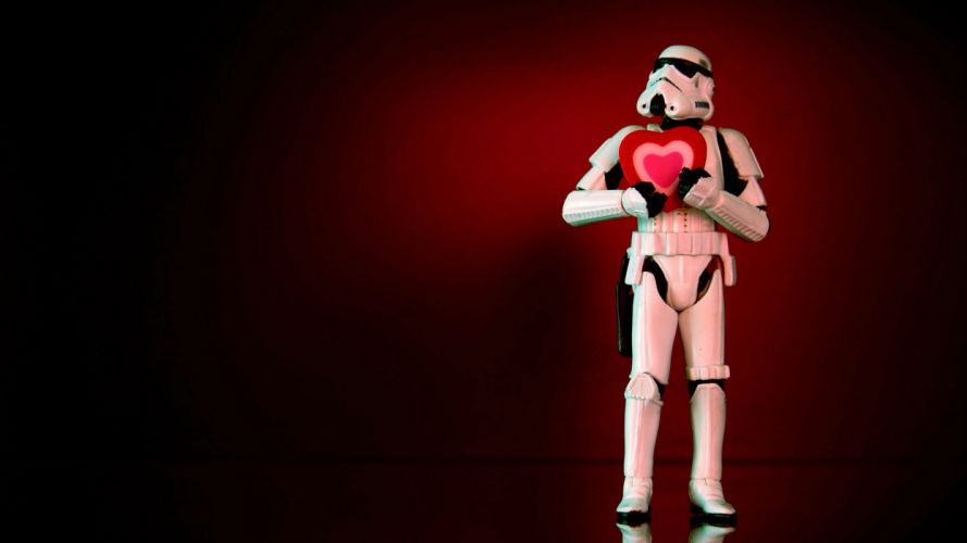 VALENTINES DAY holiday mood love heart star wars wallpaper