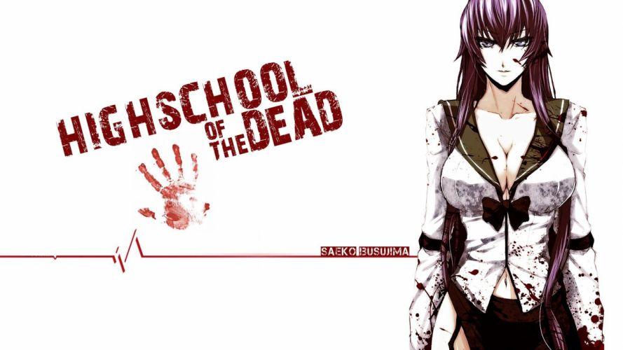 high school of the dead girl anime wallpaper