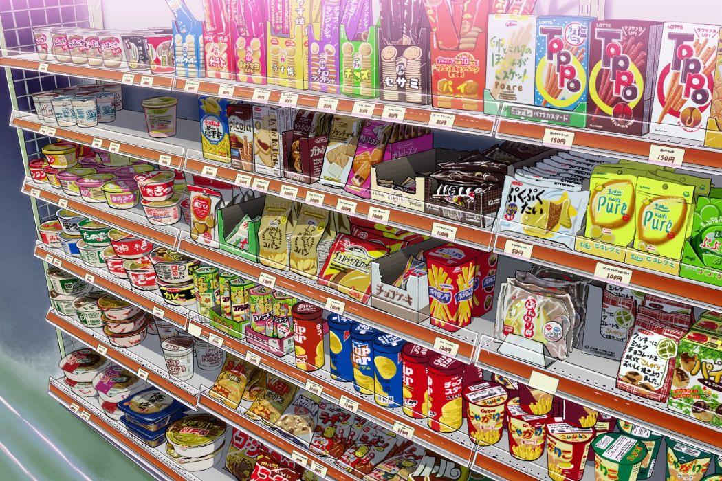 shop food pockets rafs delicious cute market anime wallpaper