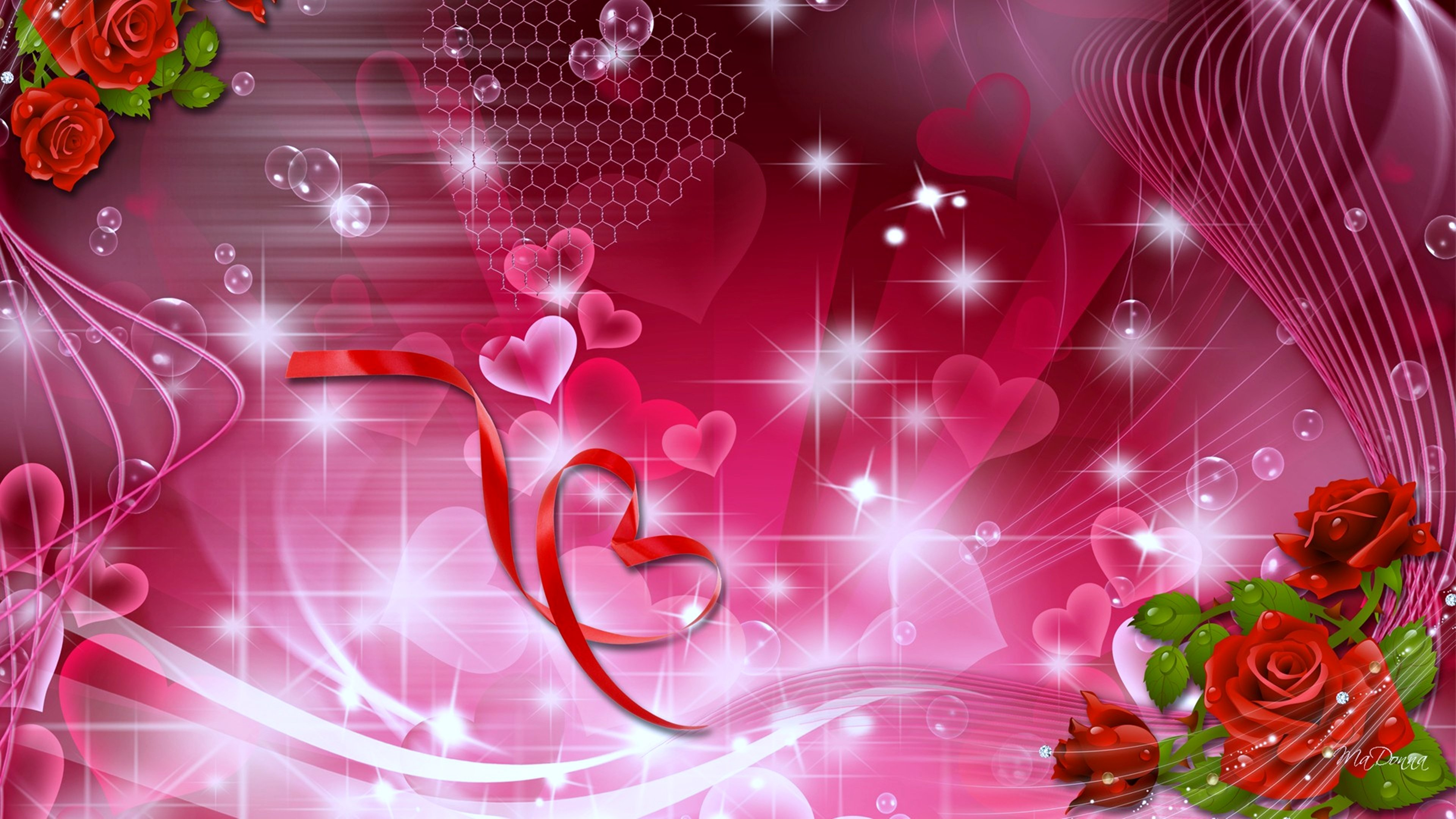 pink stars hearts wallpaper - photo #24