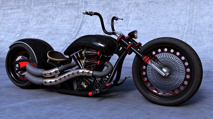 chopper motocycle black super force noise motors speed Harley-Davidson wallpaper