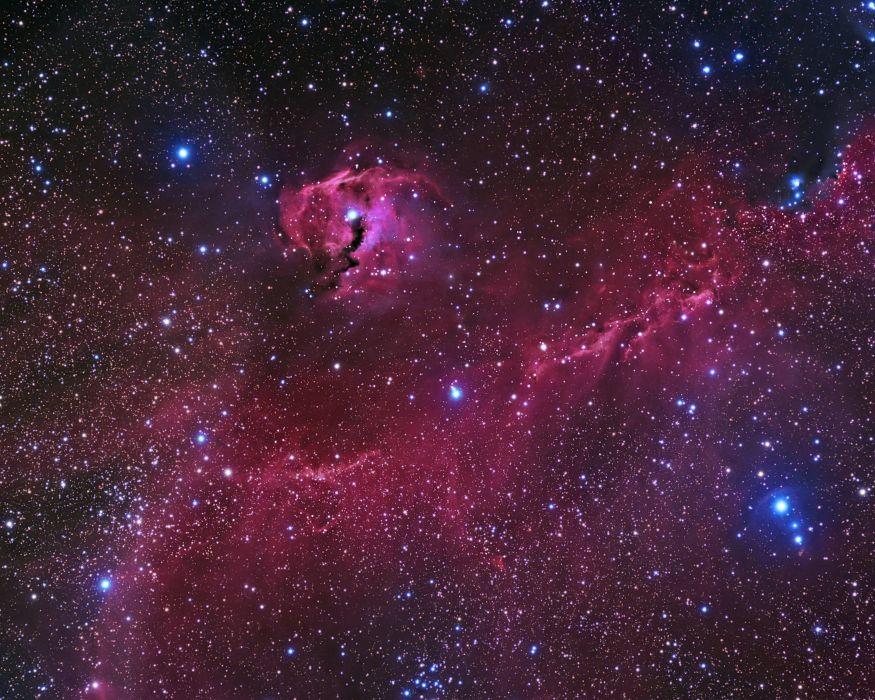 nebula galaxy stars suns planets space wallpaper