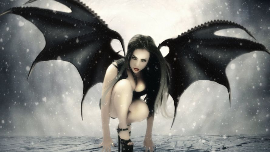 BATWOMAN dc-comics d-c superhero heroes hero Female Furies 1bw batman demon sexy babe cosplay angel gothic dark wallpaper