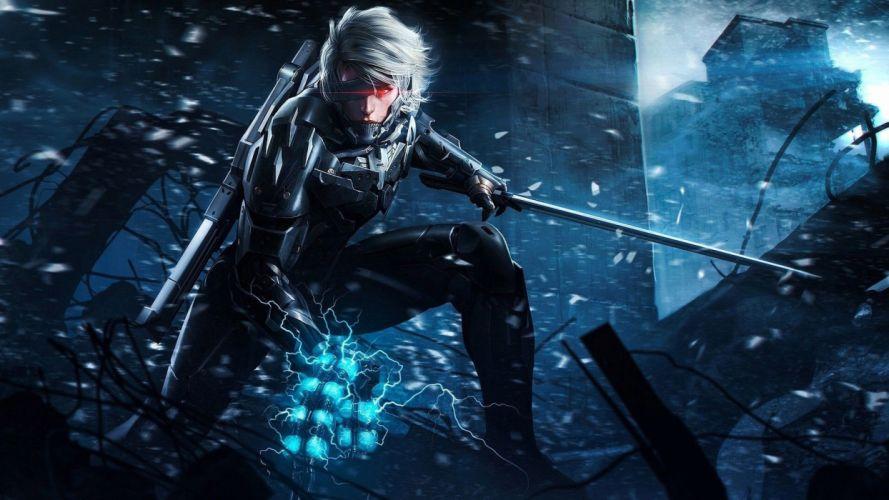 METAL GEAR RISING Revengeance fighting cyborg robot warrior sci-fi 1mgrr action futuristic sword wallpaper