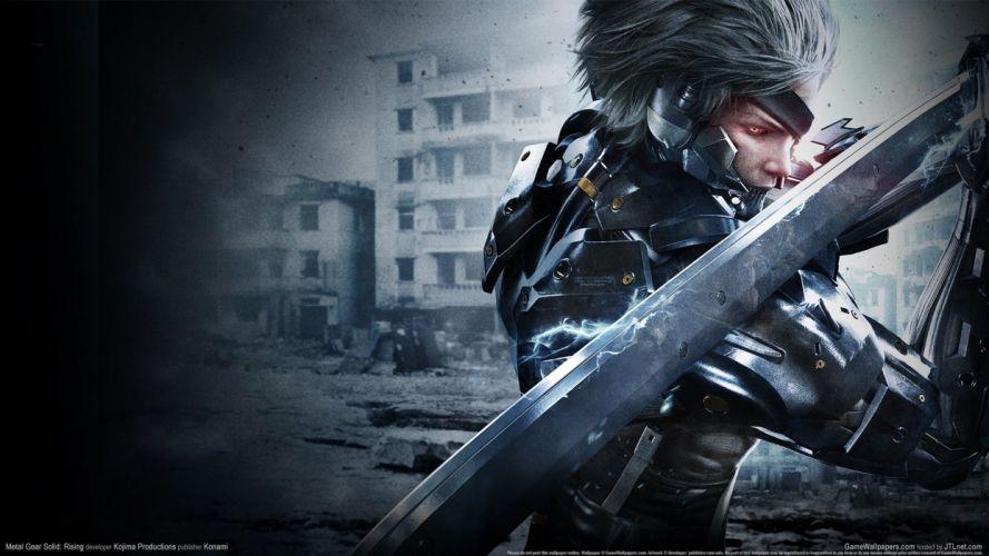 METAL GEAR RISING Revengeance fighting cyborg robot warrior sci-fi 1mgrr action futuristic sword poster wallpaper