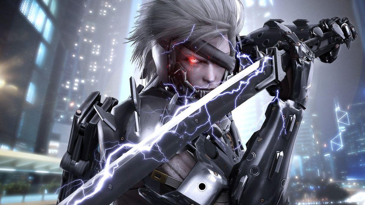 metal gear rising revengeance fighting cyborg robot warrior sci-fi