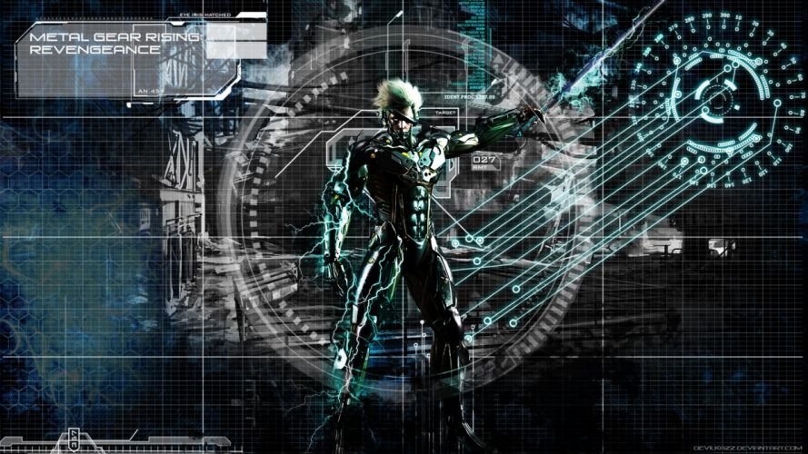 METAL GEAR RISING Revengeance fighting cyborg robot warrior sci-fi 1mgrr action futuristic sword poster wallpaper