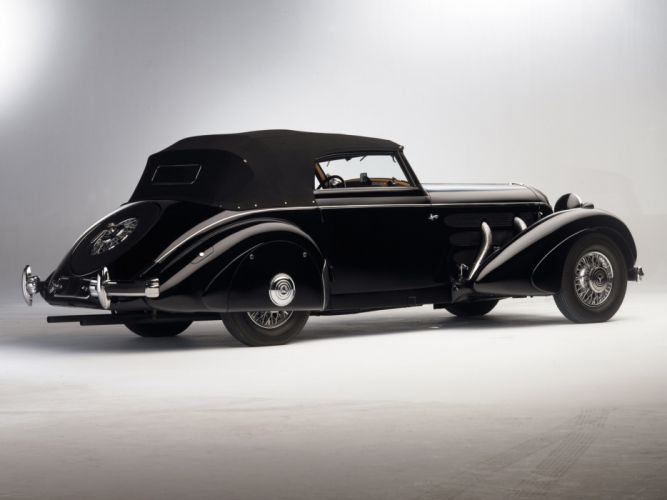 1936 Mercedes Benz 540K Special Cabriolet luxury retro vintage wallpaper