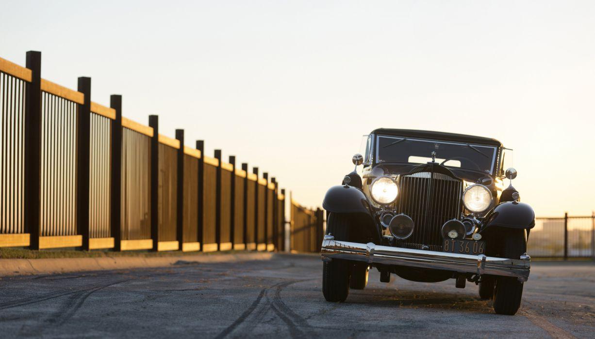 1933 Packard Super Eight Convertible Victoria 1004-667 luxury retro vintage wallpaper