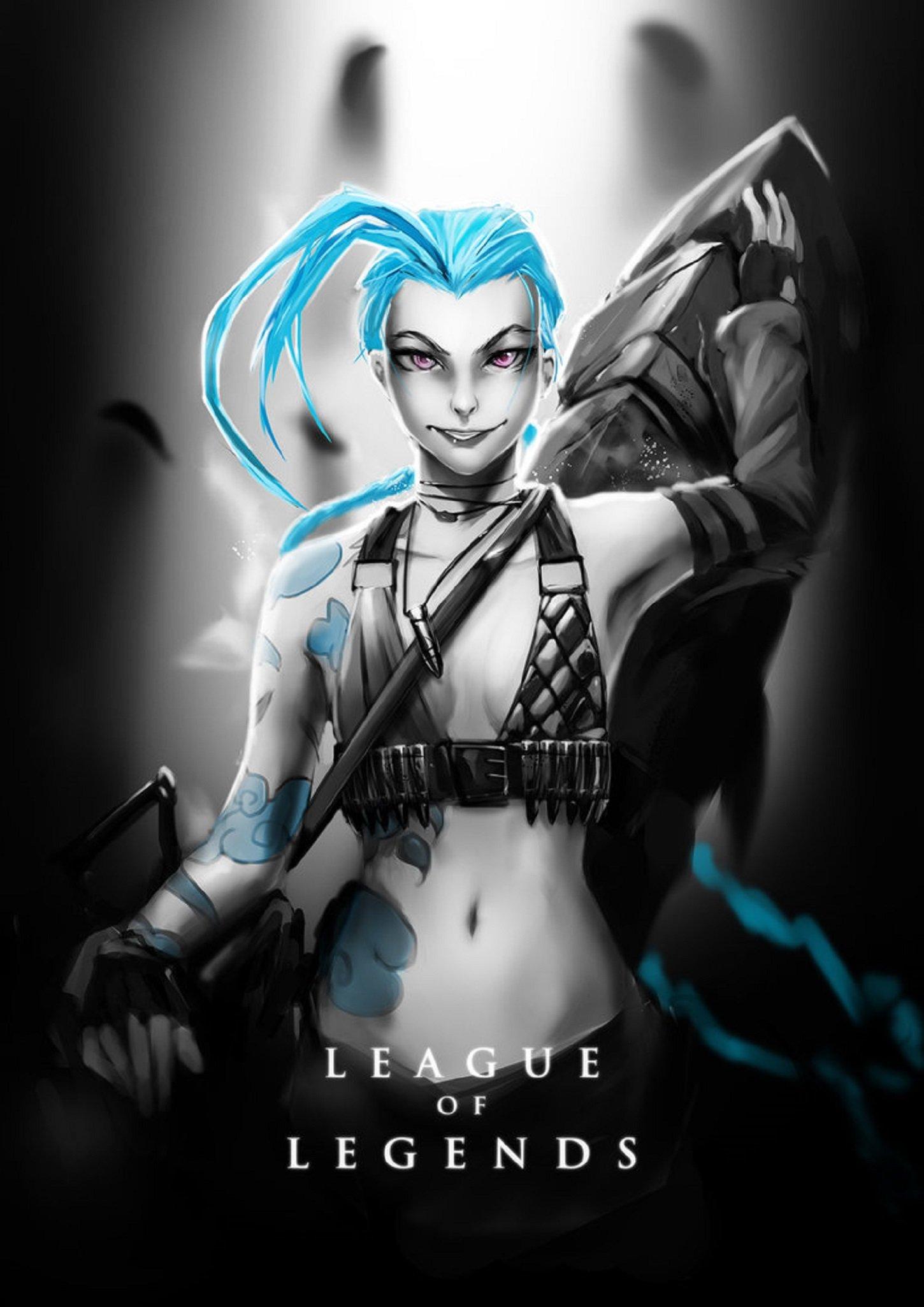League Of Legends Poster Jinx Wallpaper 1450x2049 621661