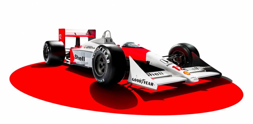 1988 McLaren Honda MP4-4 F-1 formula race racing wallpaper