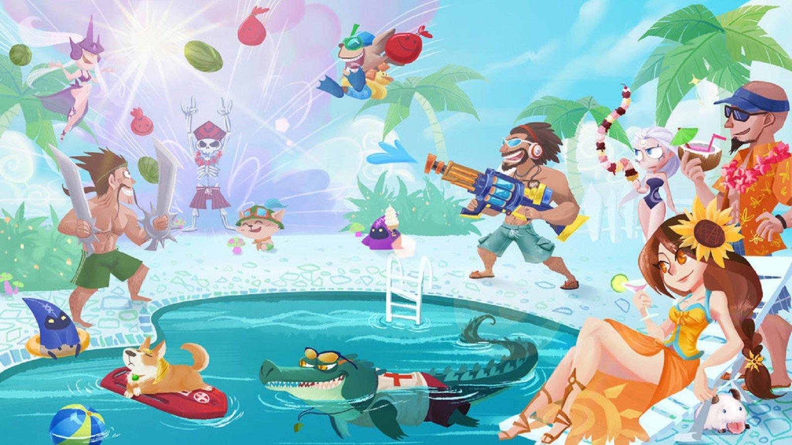 League of Legends Pool Party wallpaper | 1600x900 | 621679 ...