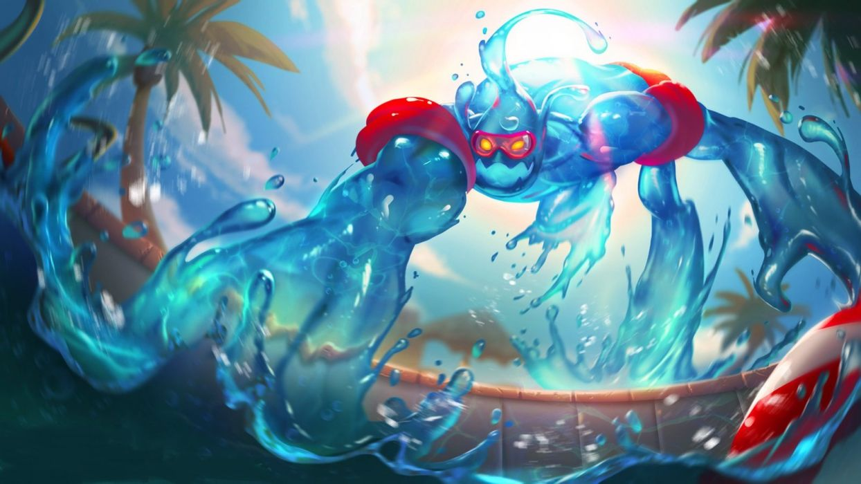League of Legends Zac Pool Party wallpaper