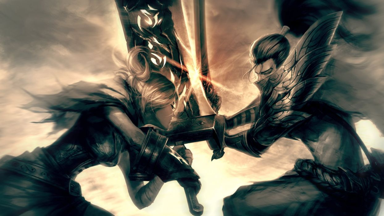 League Of Legends Yasuo Vs Riven Fan Art Wallpaper